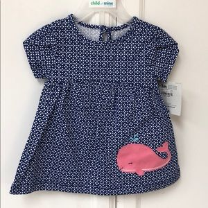 Child of mine 0-3 blue dress with pink wale NWT